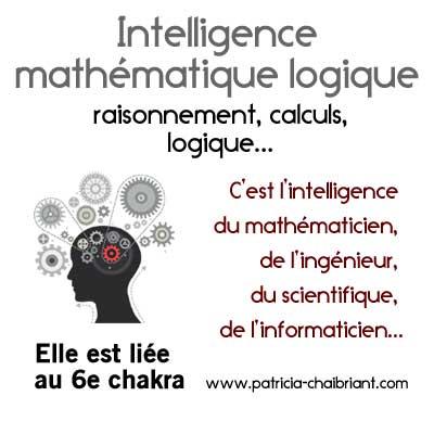intelligences multiples définition intelligence mathématique logique liée au 6e chakra