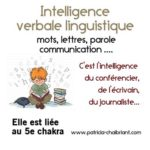 intelligence verbale linguistique liée au 5e chakra