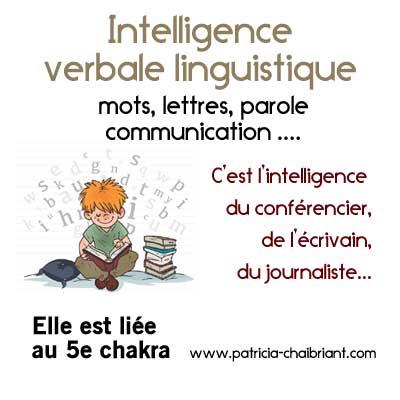 intelligences multiples définition de l'intelligence verbale linguistique liée au 5e chakra