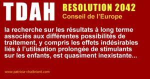 TDAH resolution 2042