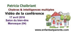 conférence chakras intelligences multiples