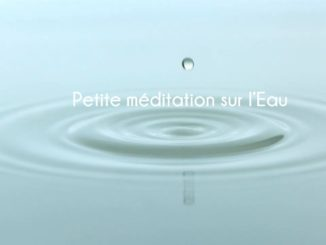 Petite méditation sur l'eau l'élément du 2e chakra